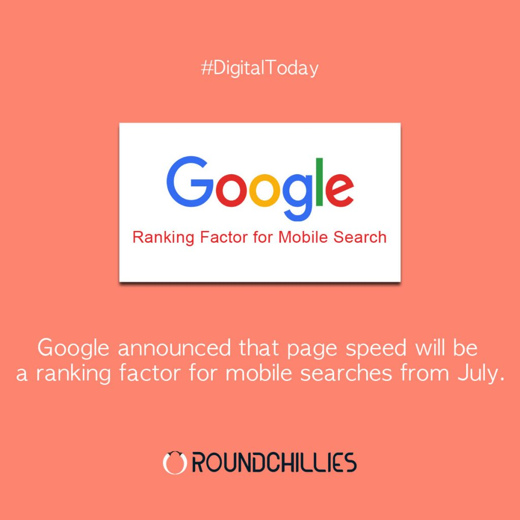 Google announced that page speed will be