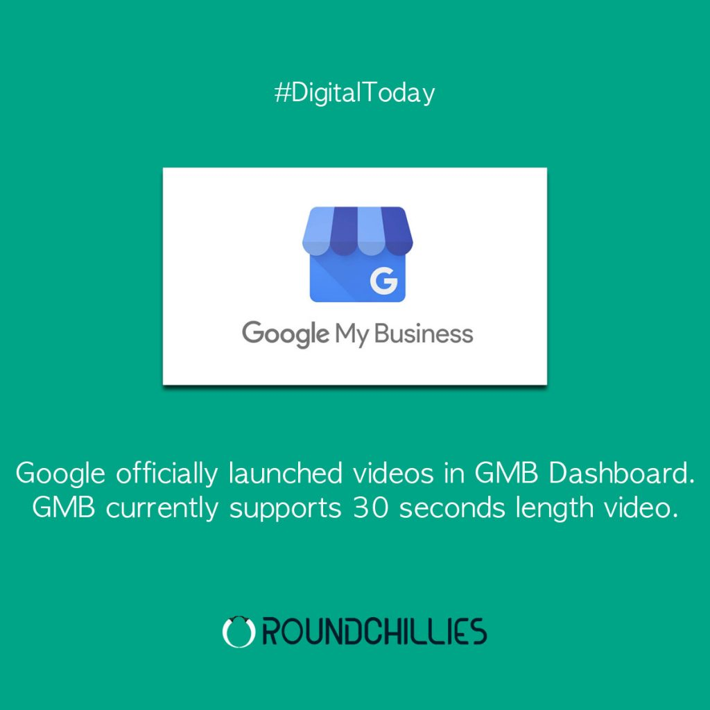 google launched videos in gmb dashboard