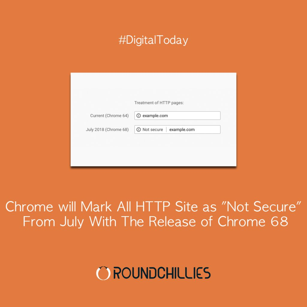 Chrome will Mark All HTTP Site as Not Secure From July With The Release of Chrome