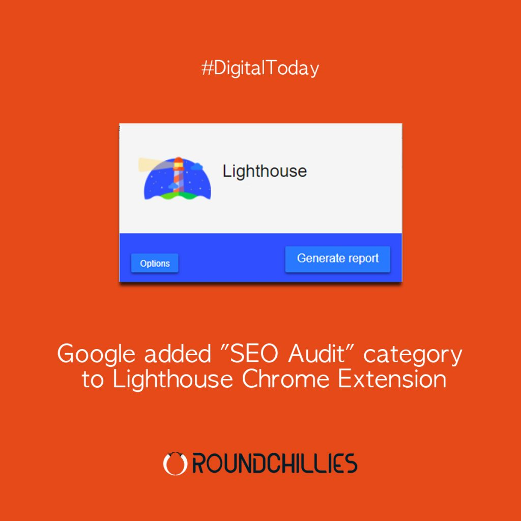 "Google added ""SEO Audit"" category to Lighthouse Chrome Extension"